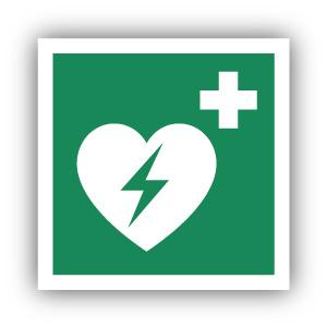 Stickers Automatische externe defibrilator (AED) (E010)