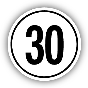 Tempostickers Maximaal 30 km per uur