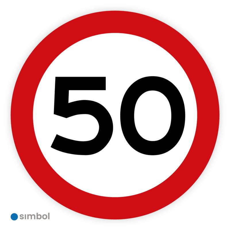 Stickers Maximaal 50 km per uur