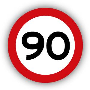 Stickers Maximaal 90 km per uur