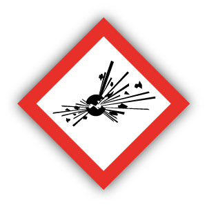 Stickers GHS01 Explosief - Explosive