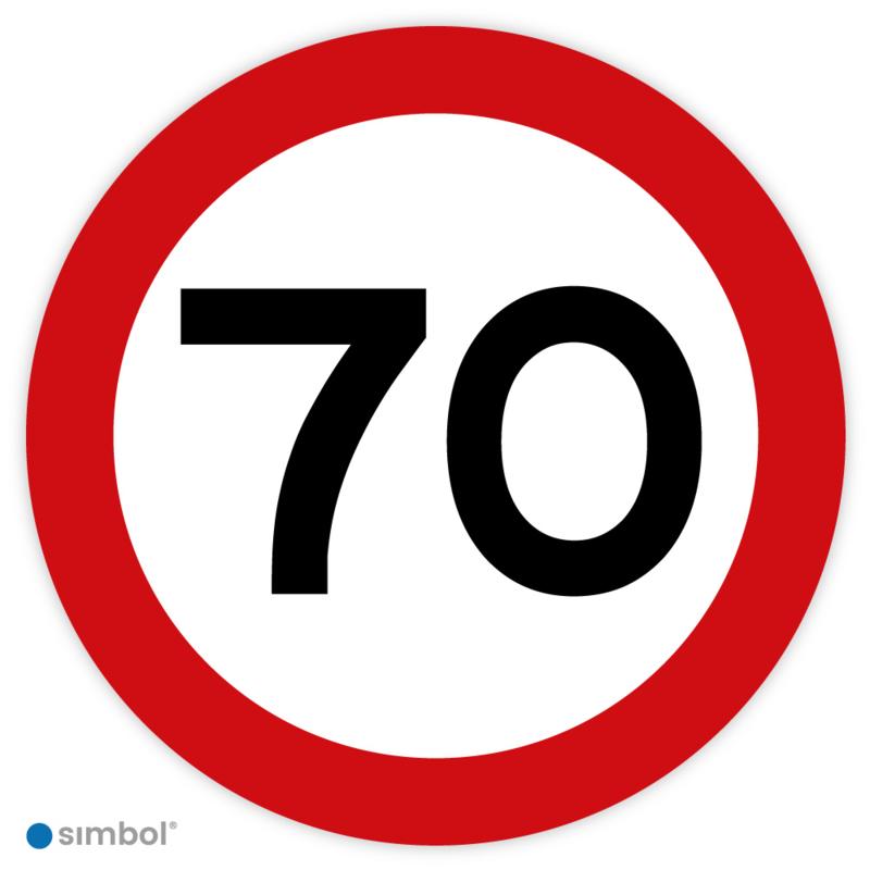 Stickers Maximaal 70 km per uur