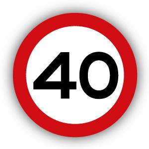 Stickers Maximaal 40 km per uur