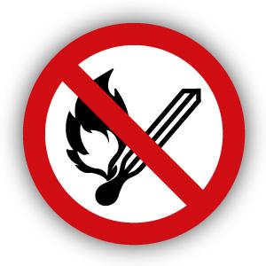 Stickers Vuur open vlam en roken verboden (P003)