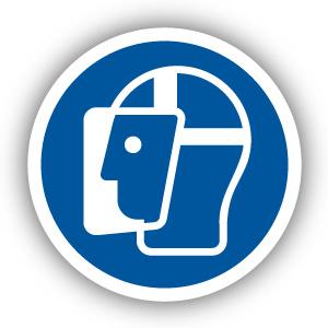 Stickers Gelaatsbescherming verplicht (M013)
