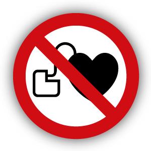 Stickers Verboden voor personen met pacemaker (P007)