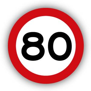 Stickers Maximaal 80 km per uur