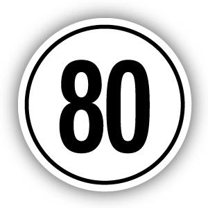 Tempostickers Maximaal 80 km per uur