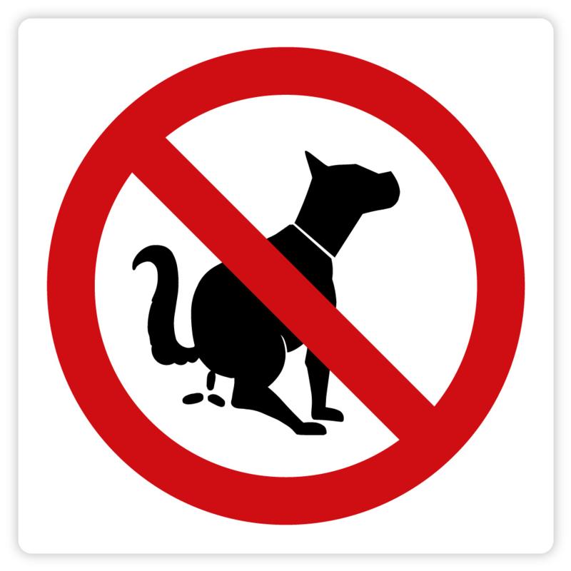 Straatstickers Dierlijke uitwerpselen / Hondenpoep verboden
