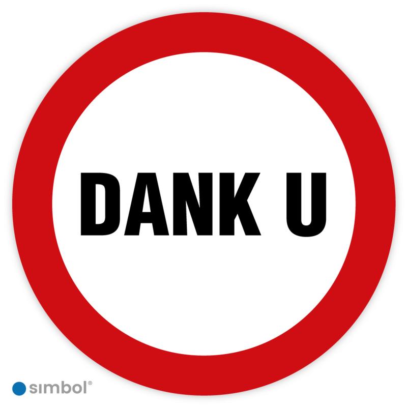 Stickers Dank u