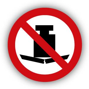 Stickers Geen zware last plaatsen (P012)