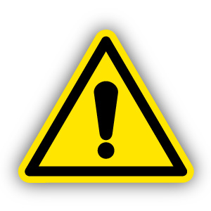 Stickers Waarschuwing (W001)
