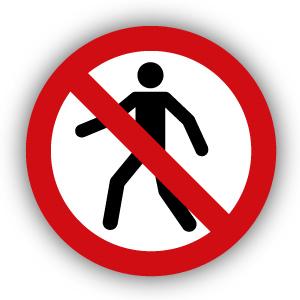 Stickers Verboden voor voetgangers (P004)