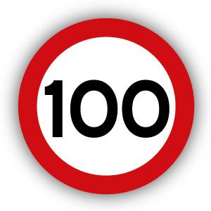 Stickers Maximaal 100 km per uur
