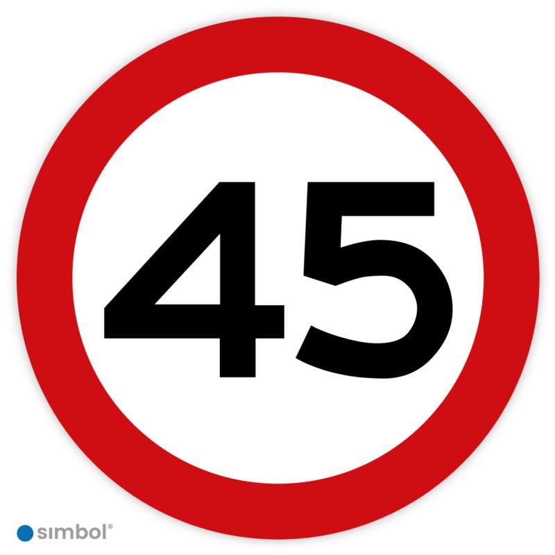 Simbol - Stickers 45 km - Maximaal 45 km/u - Duurzame Kwaliteit