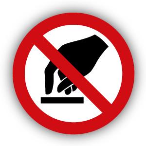 Stickers Aanraken verboden (P010)
