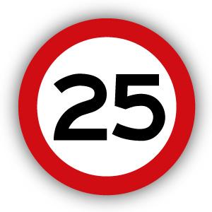 Stickers Maximaal 25 km per uur