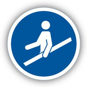 Stickers Hand aan de reling verplicht (M012)