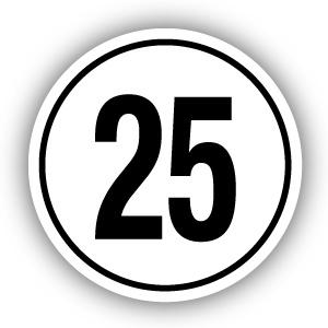 Tempostickers Maximaal 25 km per uur