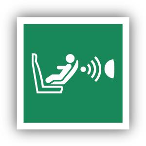 Stickers Detectiesysteem voor aanwezigheid en oriëntatie van kinderstoeltjes (E014)