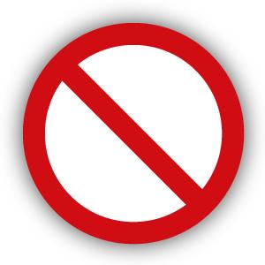Stickers Algemeen verbodsteken (P001)