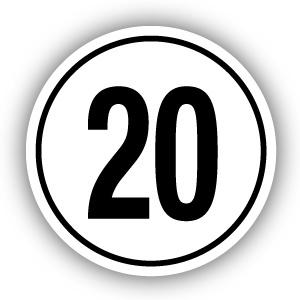 Tempostickers Maximaal 20 km per uur