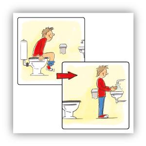 Stickers Na het plassen handen wassen