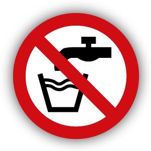Stickers Geen drinkwater (P005)