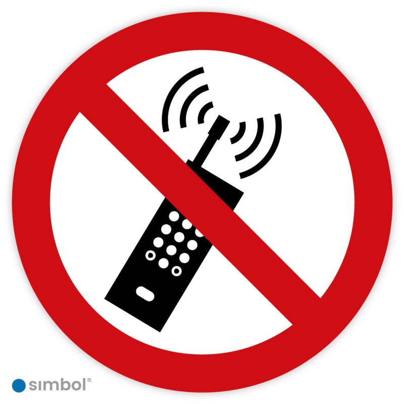 Simbol - Stickers Mobiele Telefoon Verboden - Geen Telefoon Gebruiken (P013) - Duurzame Kwaliteit