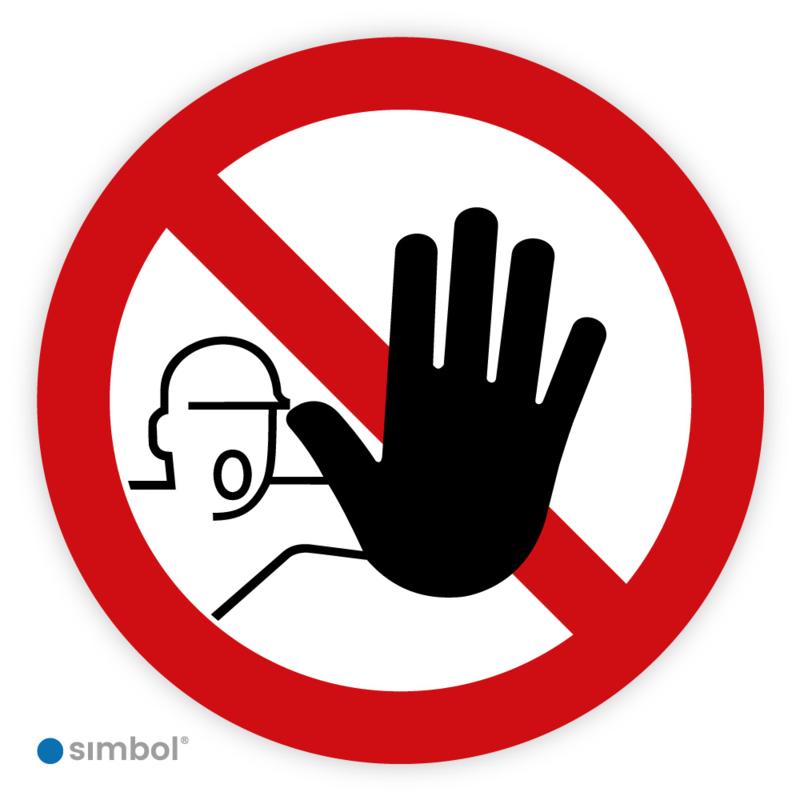 Pictogram Verboden toegang voor onbevoegden