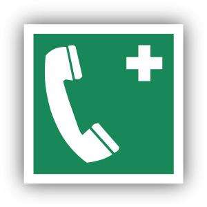 Stickers Telefoon voor noodgevallen (E004)