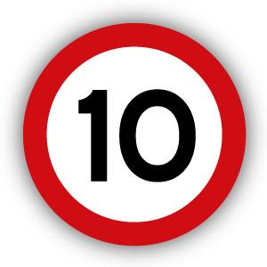 Stickers Maximaal 10 km per uur