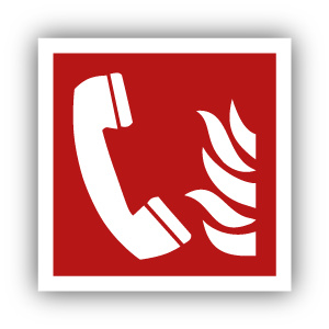 Stickers Telefoon voor brandalarm (F006)