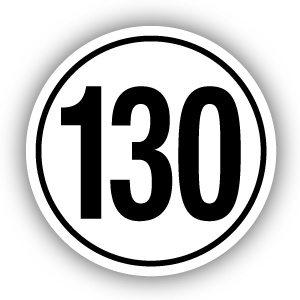 Tempostickers Maximaal 130 km per uur