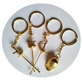 sleutelhanger goudkleurig
