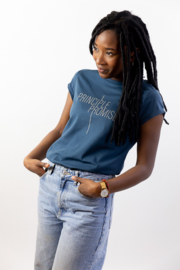Principle Promise - Ladies T-shirt - Denim Blue