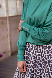 No other Name - Blouse – Bottle green - christelijke kleding