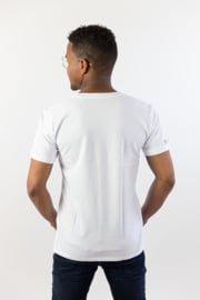 FairRebel 'basic' T-shirt - White Yellow print