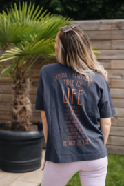 Tree of Life - Unisex oversized T-shirt - Ink Grey