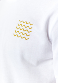 T-shirt - White Yellow print