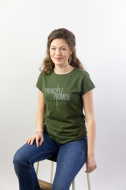 Principle Promise - Ladies T-shirt - Moss Green
