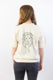 Lion of Judah - Unisex oversized T-shirt - Natural Raw