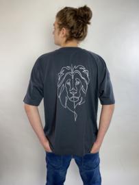 Lion of Judah - Unisex oversized T-shirt - Ink Grey