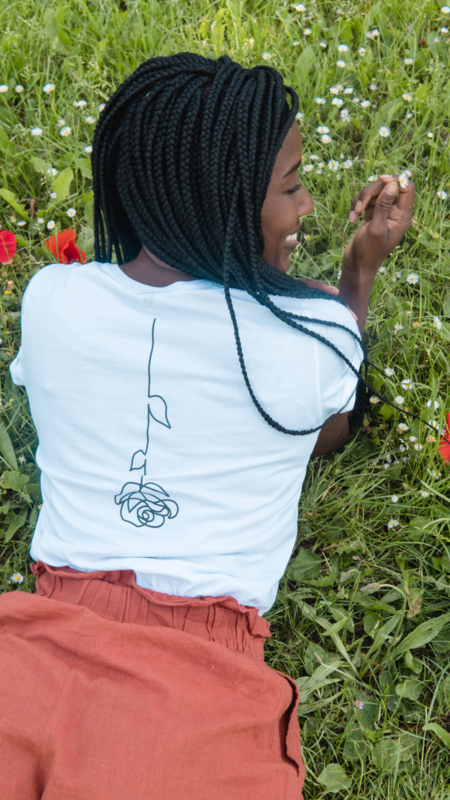Look how the wild flowers grow - Ladies T-shirt - White