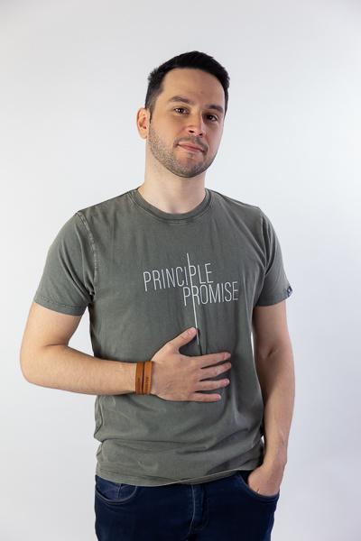 Principle Promise - Unisex T-shirt - Stone Wash Grey