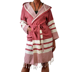 Hammam bathrobe 'Likya' pink