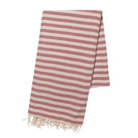 Hammam towel STRIPE Raspberry