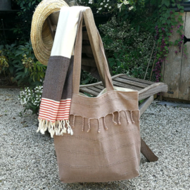 Beach bag Stone mokka