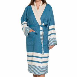 Hammam terry bathrobe petrol