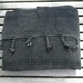 Stonewashed boho tas zwart